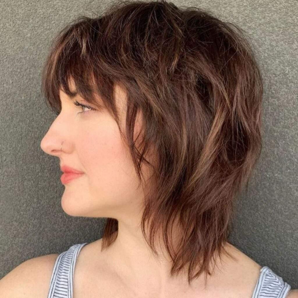 Choppy Short Hair With Bangs