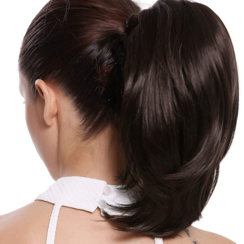 Voluminous Ponytails For Short Hair